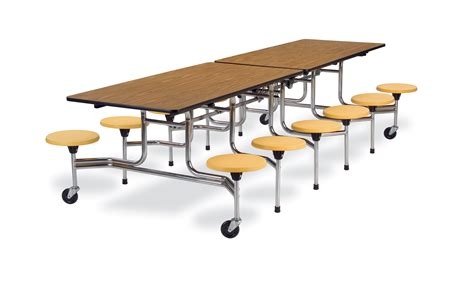 Lunch Tables by Virco Mts Series Stool Cafeteria Table