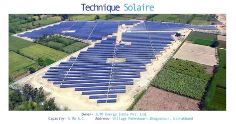 solar plant for home in india construction of our solar plant in india eq int l