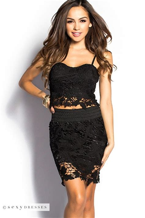 Crochet Lace Bustier Top kellee black crochet lace bustier crop top