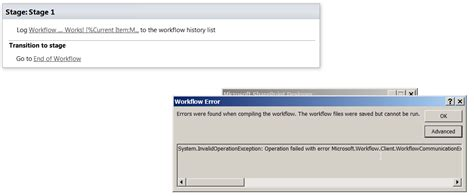 sharepoint workflow error sharepoint 2013 workflow error while trying to publish