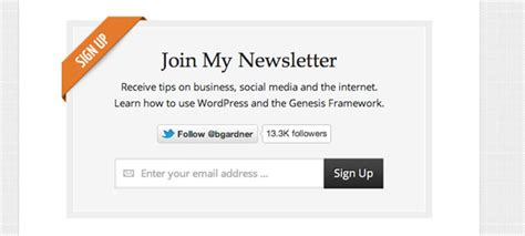 design the email newsletter sign up box that works rafal tomal
