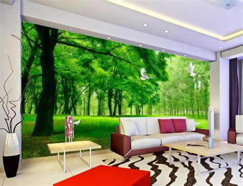 Living Room Wallpaper 3d Background by 3d Wallpaper Nature Forest Health 3d Stereoscopic Tv