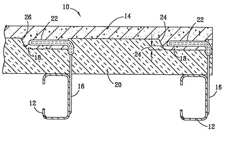 reinforced concrete wall section patent us6460301 insulated glass fiber reinforced