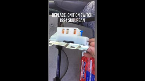 replace ignition switch chevy truck suburban  youtube