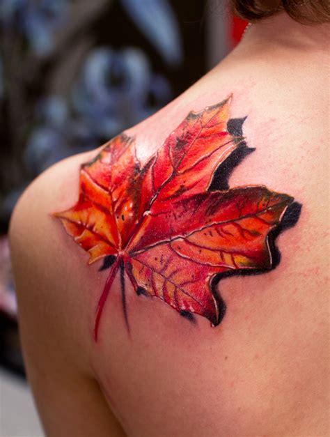 tattoo flower leaf 3d maple leaf tattoo tattoo designs piercing body art