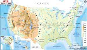 Physical Map Of The Usa by Mr Markwald S American History Extravaganza January 2013