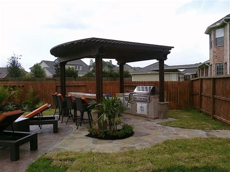 Backyard Grill Cover Pergola And Patio Cover Katy Tx Photo Gallery Landscaping Network