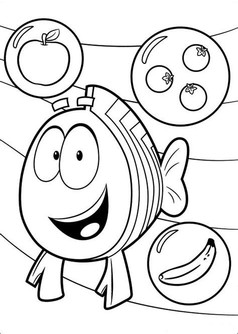 Fun Coloring Pages Bubble Guppies Coloring Pages Guppies Coloring Pages