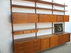 mid century danish teak wall unit by sven ellekaer for