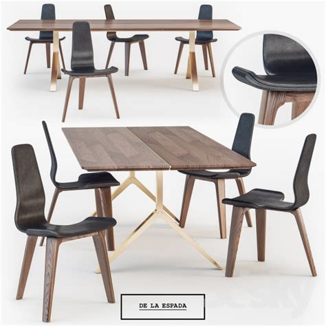 de la espada dining table 3d models table chair de la espada overton dining