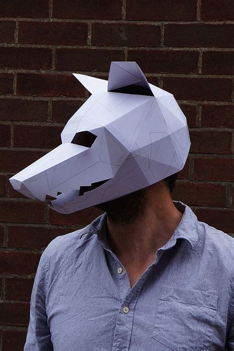 How To Make A 3d Paper Mask - 25 best ideas about wolf mask on masks mask