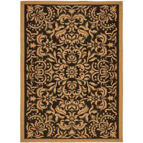 home depot indoor outdoor rugs safavieh courtyard black 4 ft x 5 ft 7 in