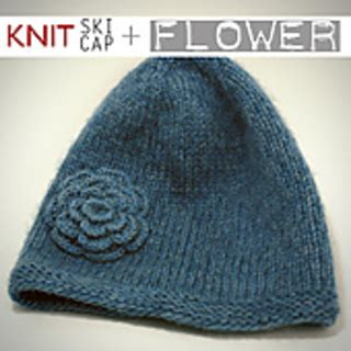 pattern for knitted flower for hat ravelry knitted hat with garter stitch brim and flower