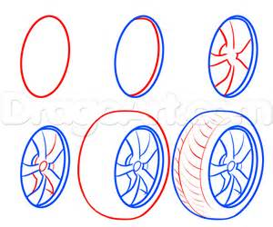 How To Draw A How To Draw Tires Step By Step Cars Draw Cars