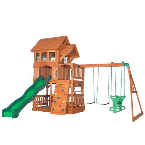 Backyard Discovery Ii Swing Set Backyard Discovery Liberty Ii All Cedar Swing Set 44215com