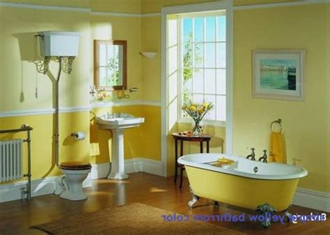 Yellow Paint Colors For Bathroom by Best 25 Yellow Tile Bathrooms Ideas On