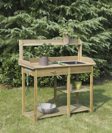 large potting bench convenience concepts deluxe potting bench by oj commerce