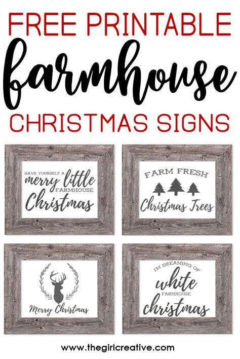 free printable rustic fonts free printable farmhouse christmas signs the girl creative