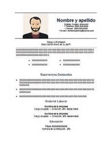 Plantilla Curriculum Vitae Para Completar Chile Curriculum Vitae Para Completar Gratis Y En Espa 241 Ol