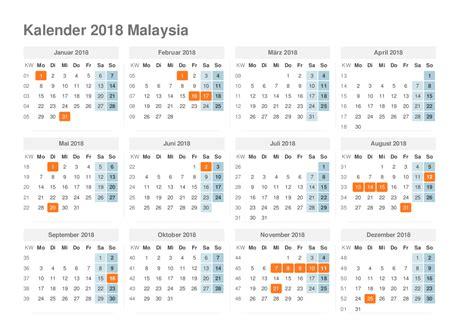 kalender 2018 malaysia ferien feiertage schulferien