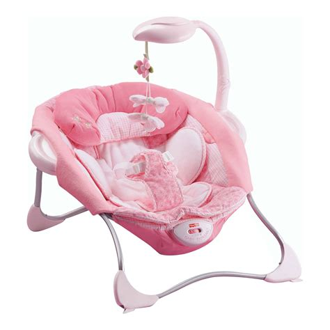 fisher price pink butterfly swing fisher price butterfly pink papasan baby bouncer