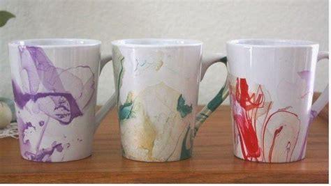 amazing diy coffee mugs diy craft projects marbled diy watercolor coffee mugs gotta love diy