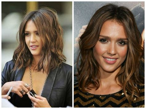 the lob haircut wavy maintenance the best of jessica alba hairstyles my style pinterest