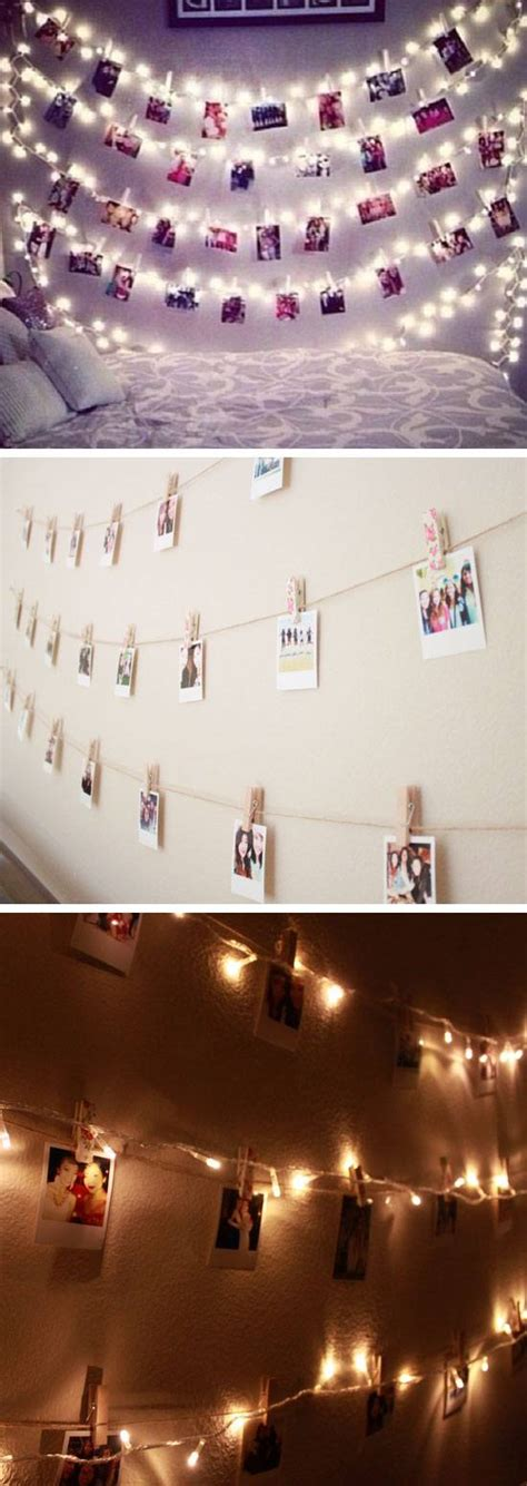 how to hang polaroid lights 24 gorgeous diys for your s bedroom