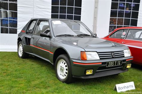 sales peugeot auction results and sales data for 1984 peugeot 205 turbo 16