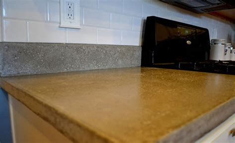 how to make diy concrete countertops imperfectly