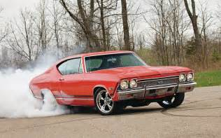 chevrolet chevelle ss 1968 burnout roads cars