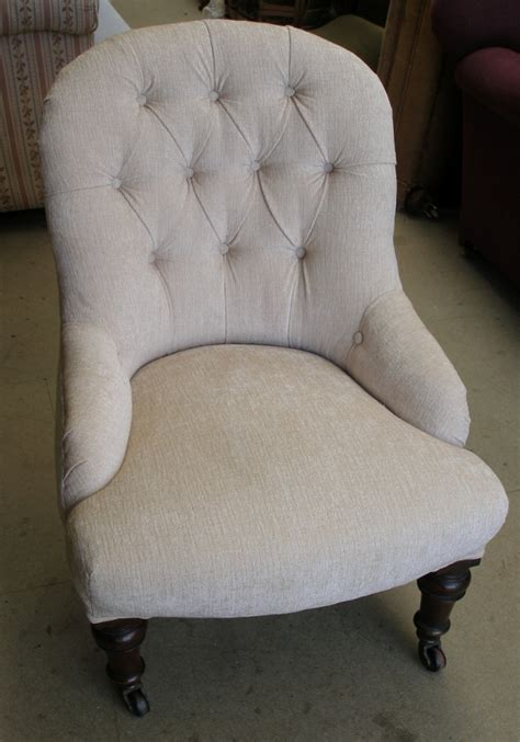 breastfeeding armchair antique sold victorian deep buttoned nursing chair