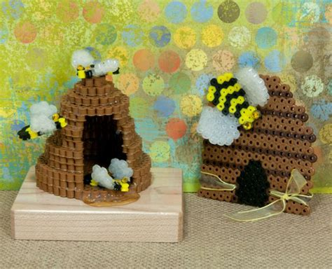 bead hive beehive perler and perler patterns on