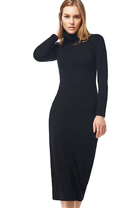 Turtleneck Sleeve Dress sleeve turtleneck maxi winter dress uniqistic