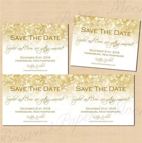 printable editable postcards white gold sparkles save the dates 5 5x4 25 text