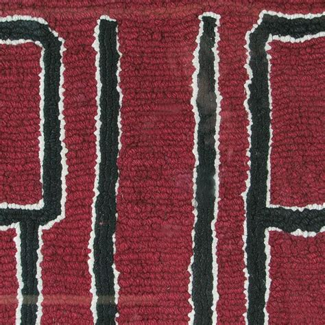 hanging rugs vintage antique americana harvard hooked rug wall hanging for sale at 1stdibs
