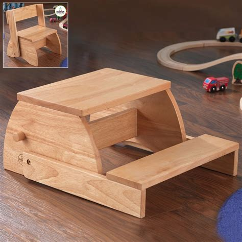 shop kidkraft 2 step wood step stool at lowes
