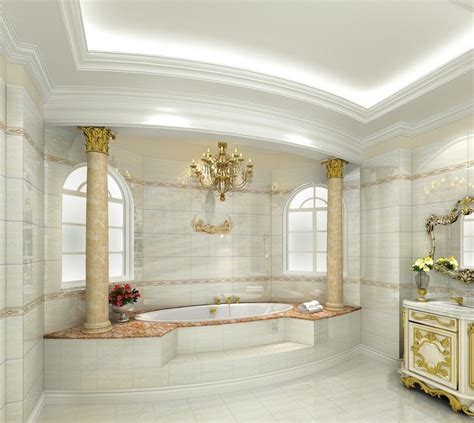 interior 3d european luxury bathroom design rich