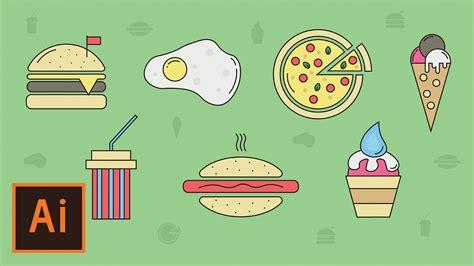 pattern illustrator food illustrator tutorial food and restaurant icons