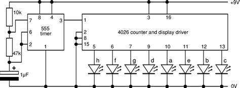 integrated circuit random number generator integrated circuit how to sink current to drive 7 segment led using a 4026 chip electrical