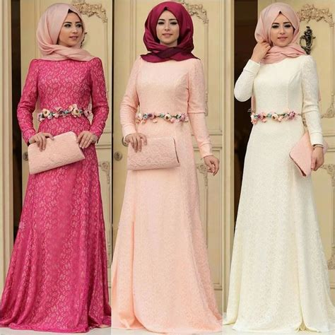 Maxi Soft Pink Maxmara Dress Muslim Elegan 2018