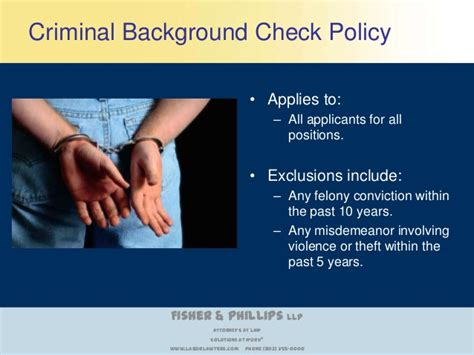 Background Check Time Period Is Your Criminal Background Check Policy Consistent With