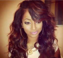 13 long weave layered red hairstyle