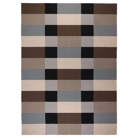 Karpet Ikea stockholm rug flatwoven handmade chequered brown 250x350 cm ikea
