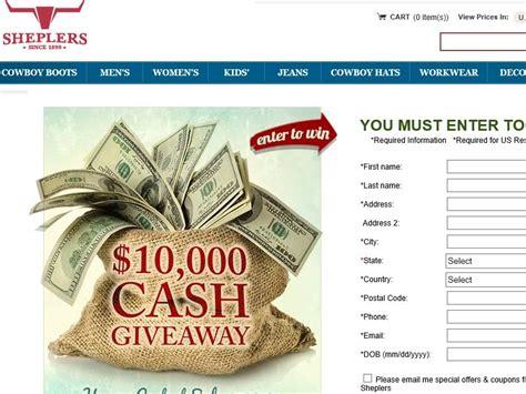 Sheplers Gift Card - sheplers 10 000 cash giveaway