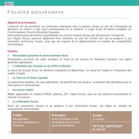 Credit Impot Formation Dirigeant 2014 Remboursable bdo fitec catalogue des formations 2014