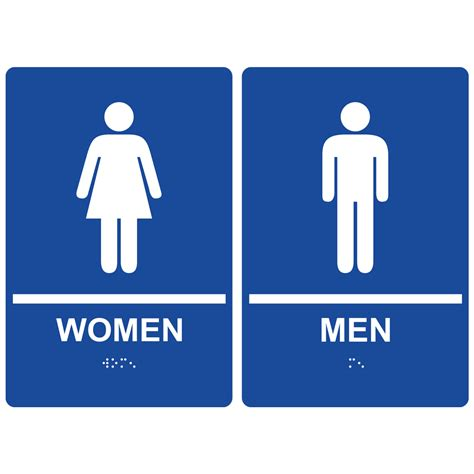 men and women bathroom sign restroom signs ada braille signs