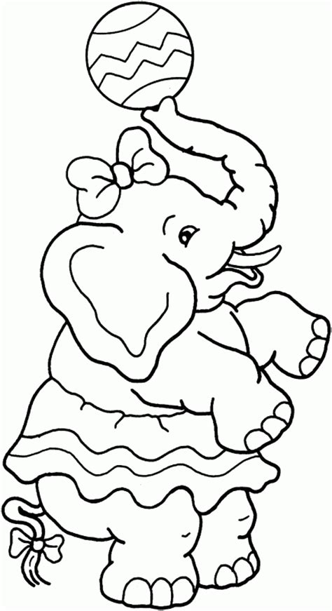 girl elephant coloring pages free girl elephant coloring pages