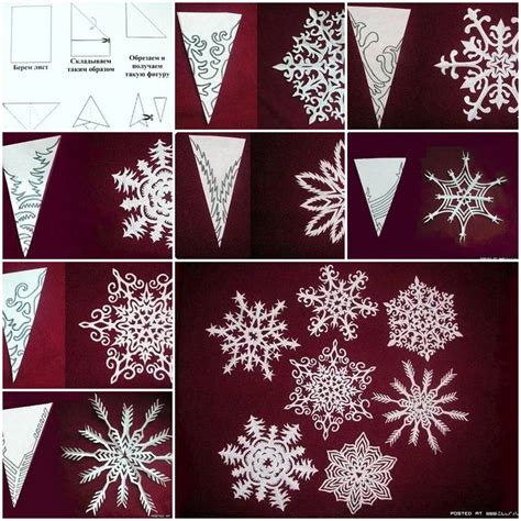 How To Make Paper Snowflake Decorations - how to make snowflakes of paper step by step diy tutorial