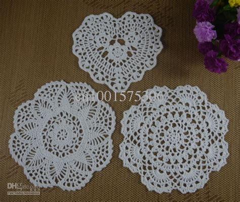 Handmade Crochet Designs - 2017 handmade crochet pattern doily 3 designs cup pad mat
